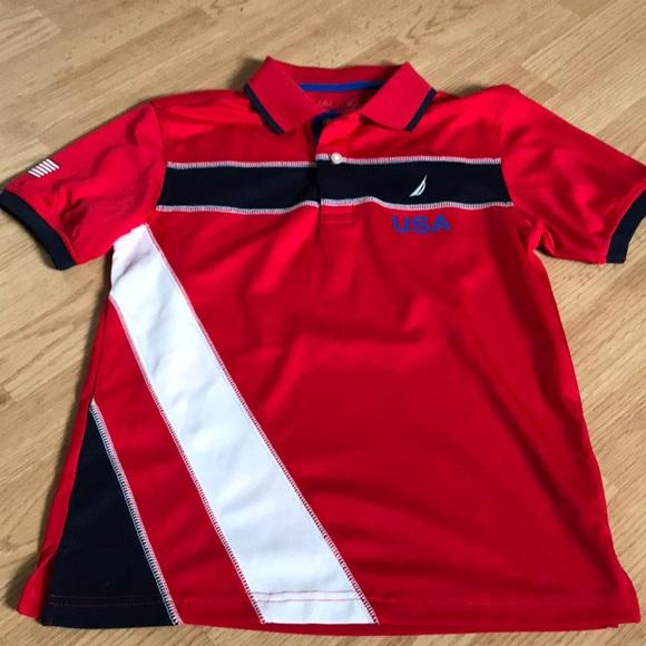 Nautica Other - Nautica Boys Polo Tee Shirt Size medium (10-12)